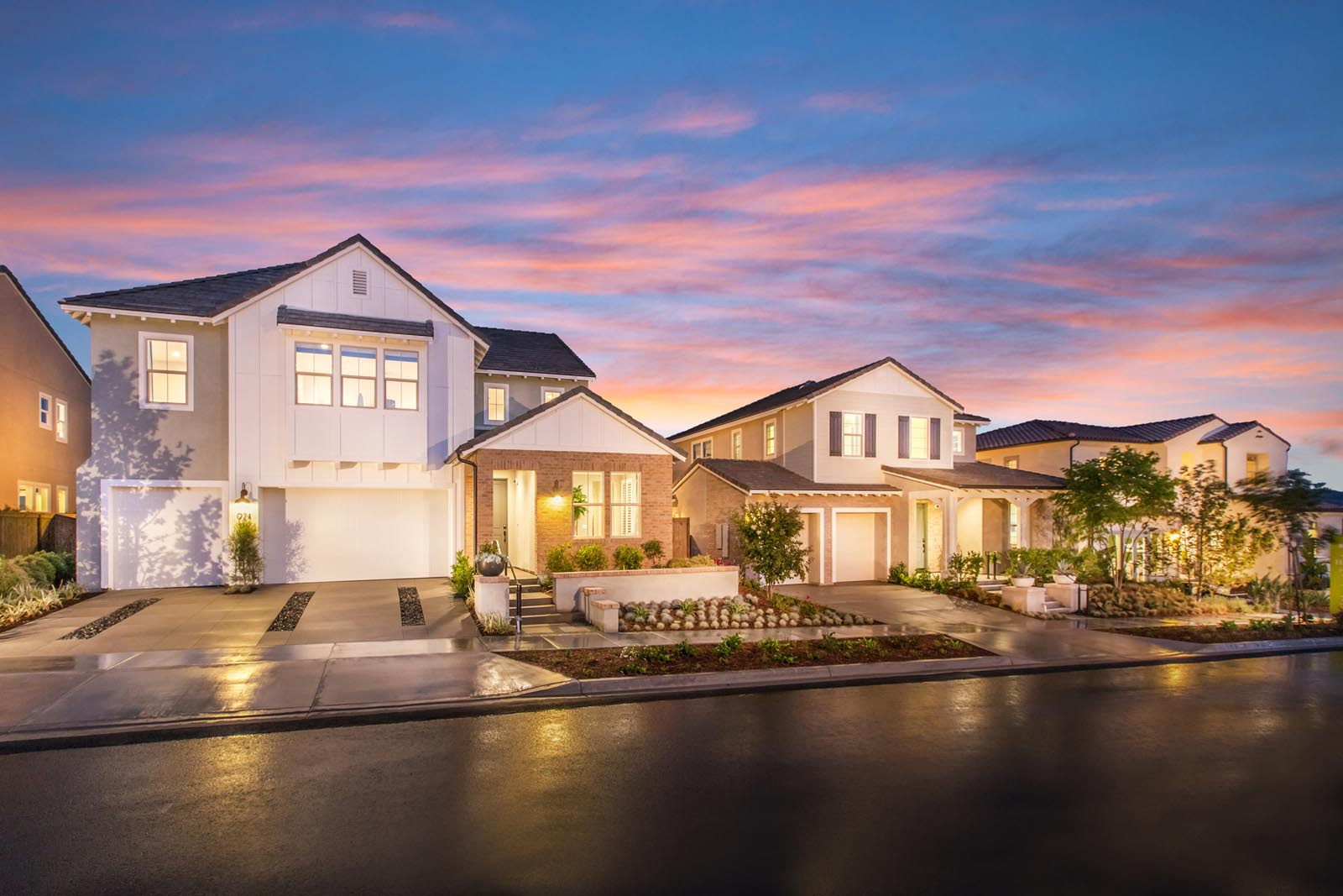 Street Scene | Haciendas at the Village of Escaya in Chula Vista, CA | Brookfield Residential