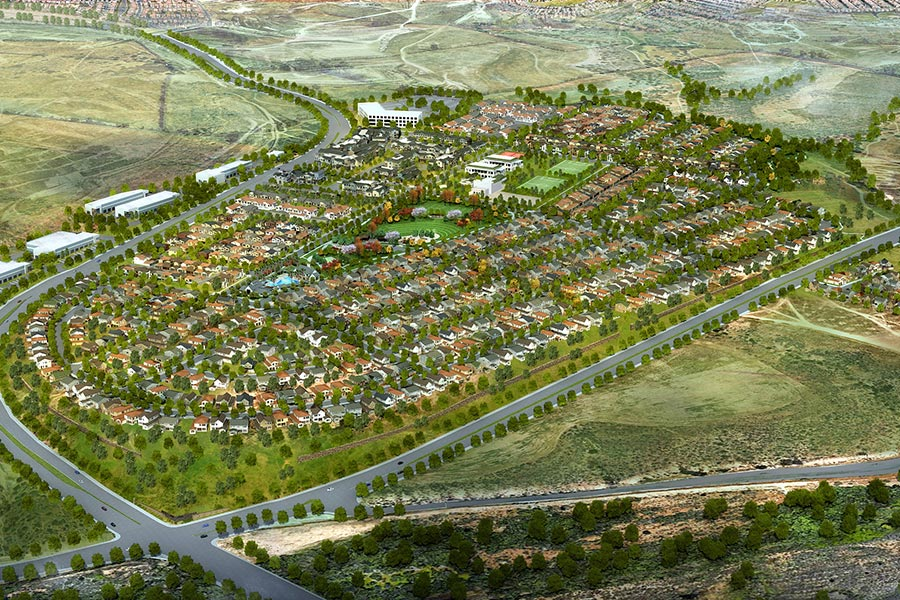 Aerial Rendering | The Village of Escaya in Chula Vista, CA | Brookfield Residential