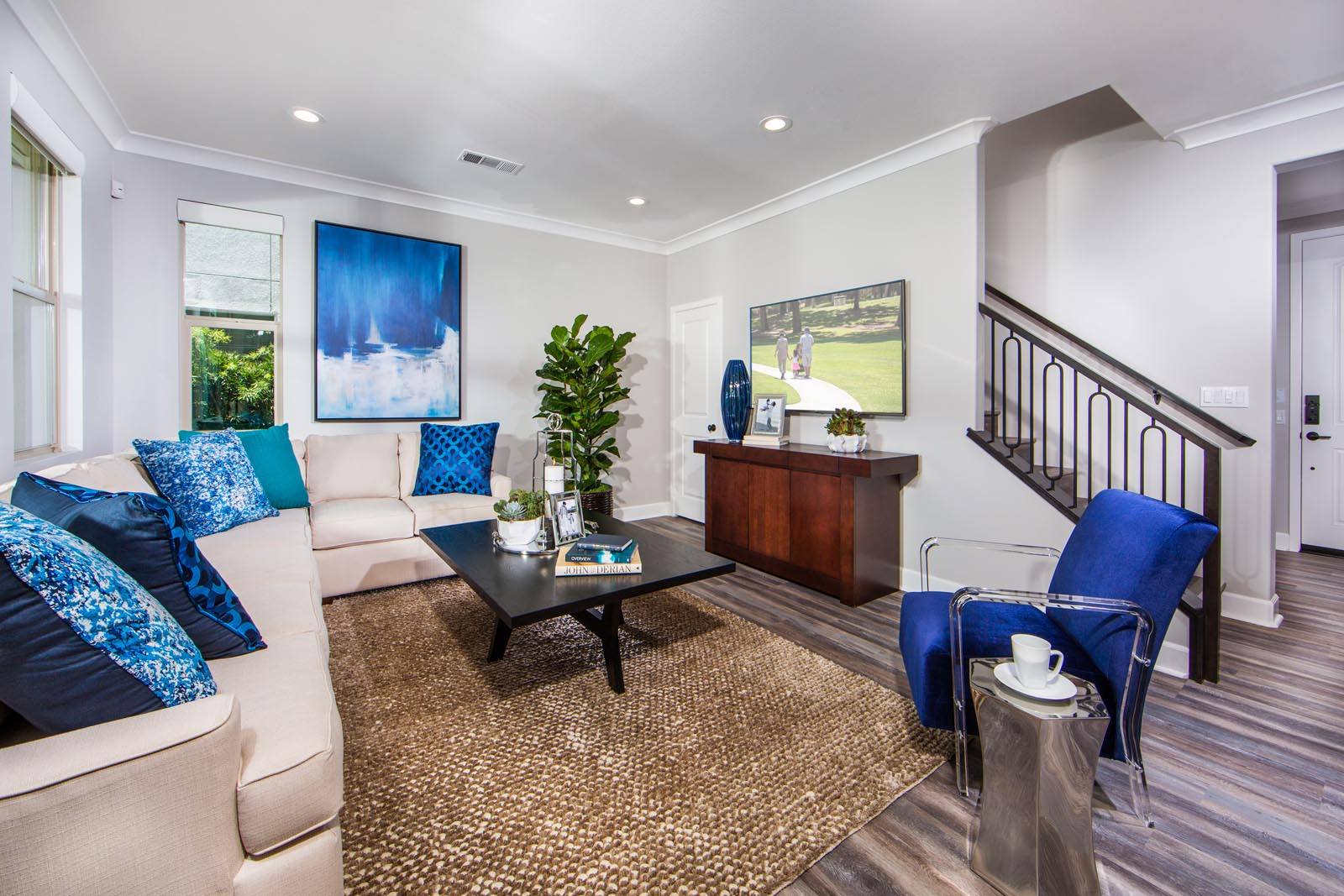 Residence 2 Family Room | Prado at the Village of Escaya in Chula Vista, CA | Brookfield Residential