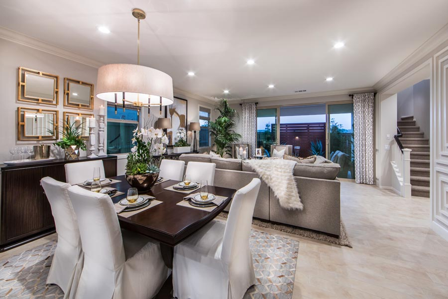 Residence 3 Dining and Family Room | Prado at the Village of Escaya in Chula Vista, CA | Brookfield Residential
