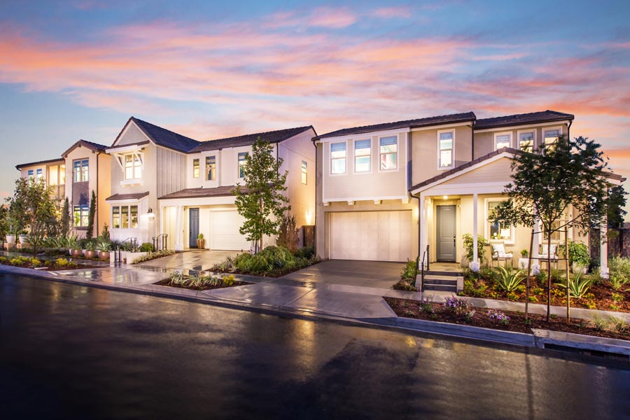 Street Scene | Prado at the Village of Escaya in Chula Vista, CA | Brookfield Residential