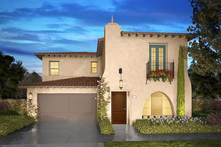 Residence 1A rendering | Beverly at Eastwood Village in Irvine, CA | Brookfield Residential