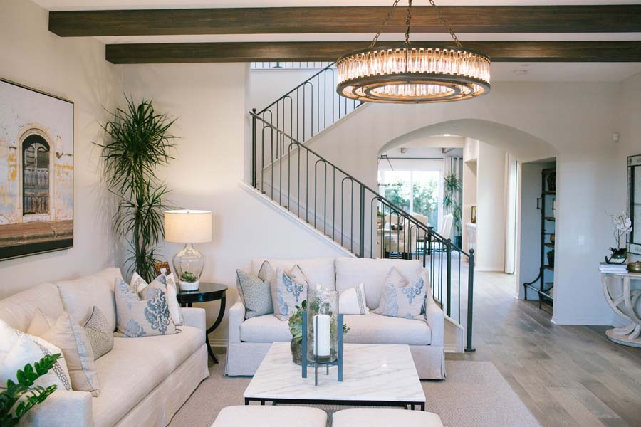 Stairs/Great Room Detail Residence 2 | Beverly at Eastwood Village in Irvine, CA | Brookfield Residential