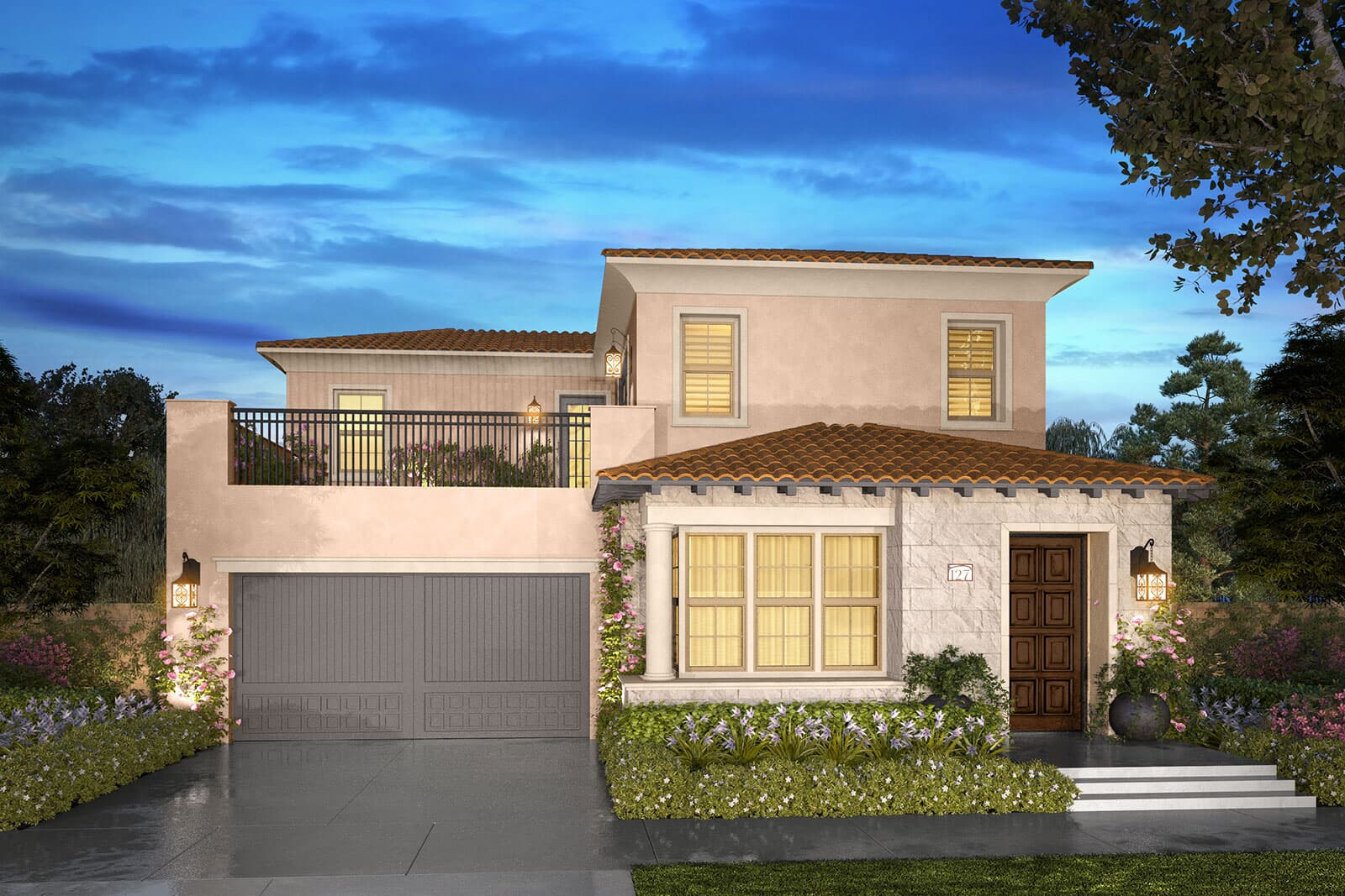 Residence 2B rendering | Beverly at Eastwood Village in Irvine, CA | Brookfield Residential