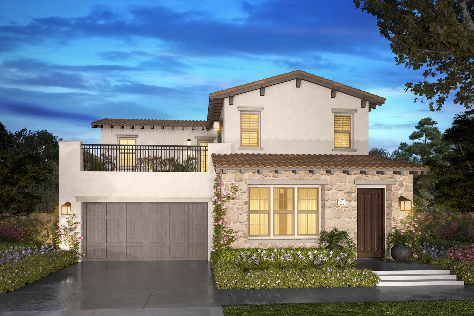Residence 2C rendering | Beverly at Eastwood Village in Irvine, CA | Brookfield Residential