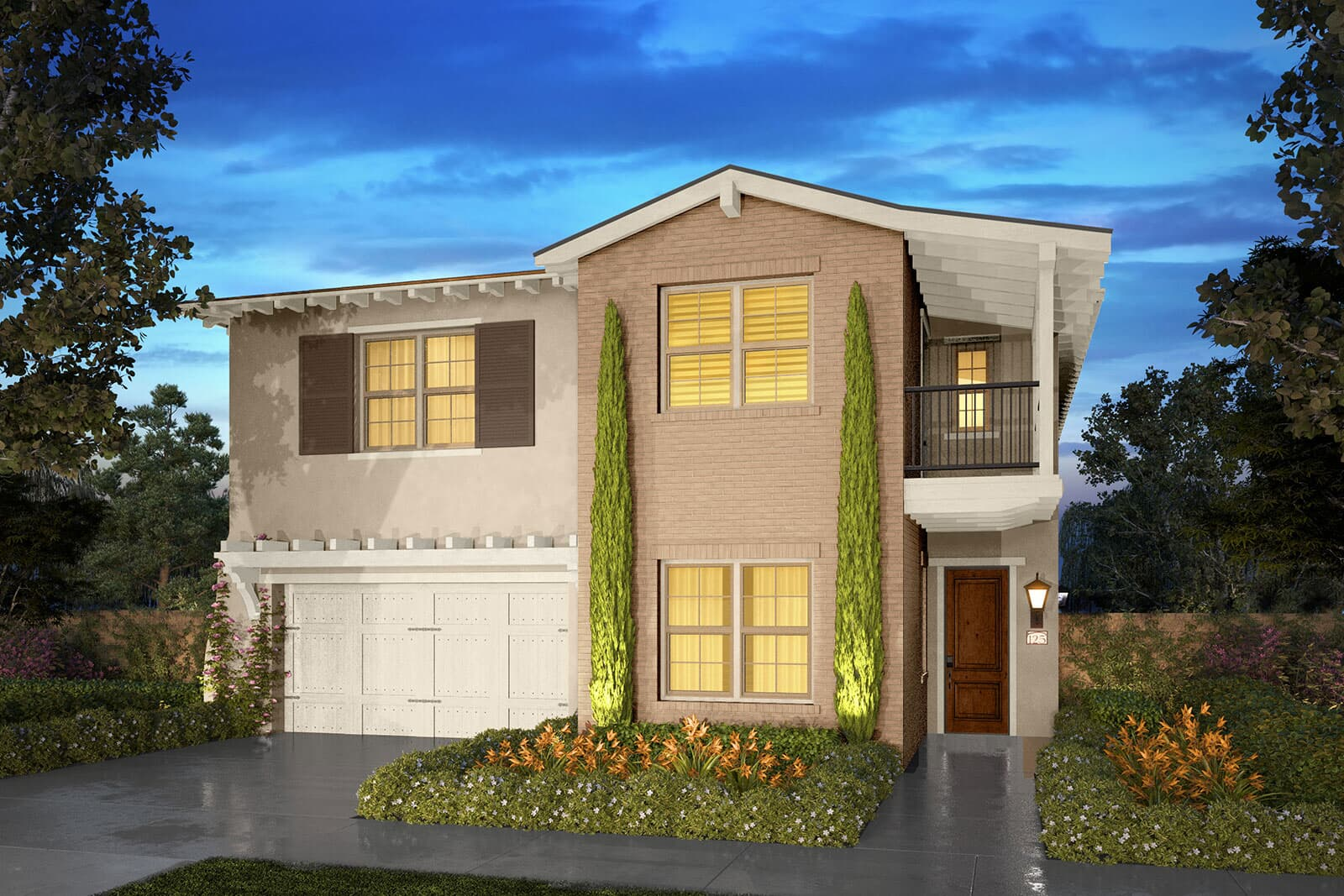 Residence 3D rendering | Beverly at Eastwood Village in Irvine, CA | Brookfield Residential