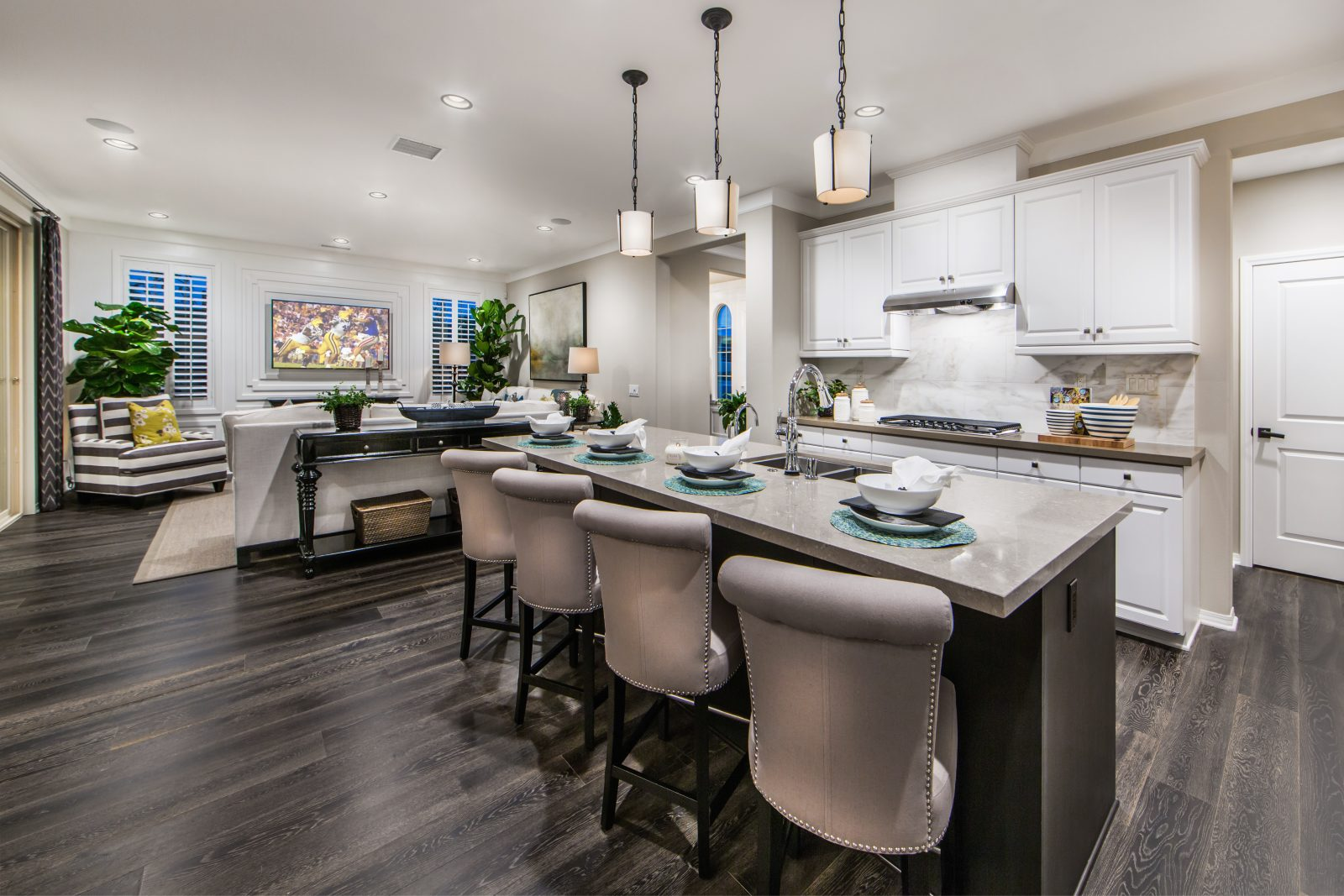 Kitchen and Great Room | Cameo in Whittier, CA | Brookfield Residential