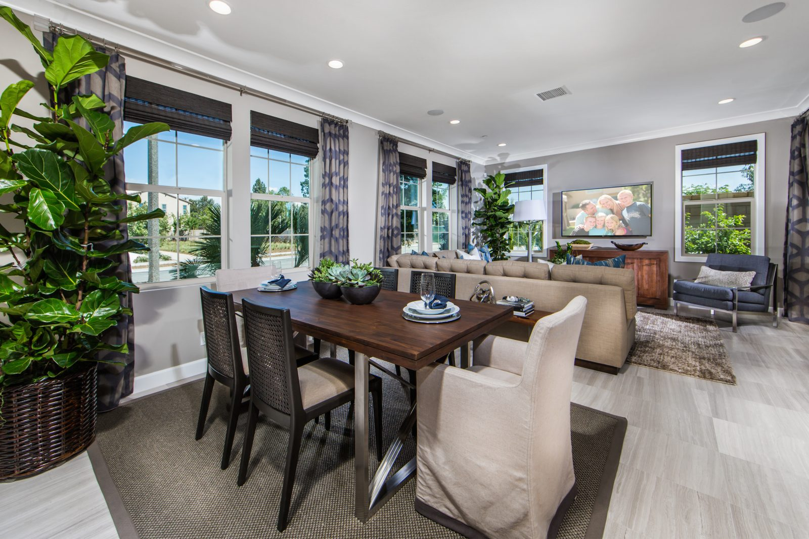 Dining and Great Room | Cameo in Whittier, CA | Brookfield Residential