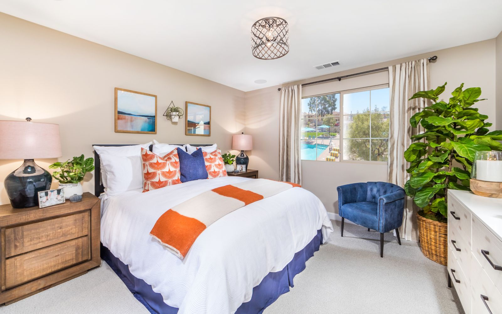 Gardens Plan 2 Master Bedroom| Lantana @Beach in Stanton, CA | Brookfield Residential