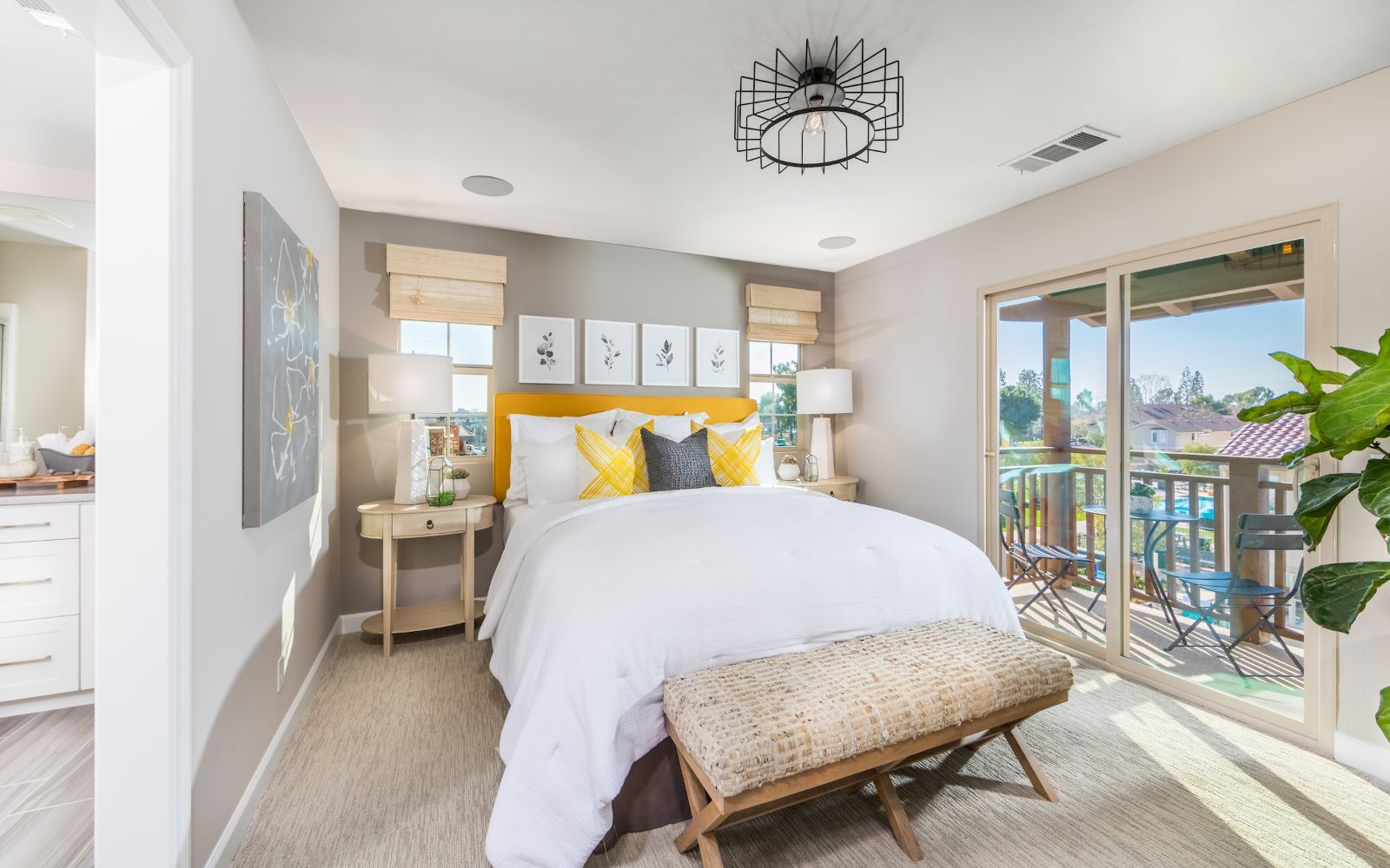 Gardens Plan 3 Master Bedroom| Lantana @Beach in Stanton, CA | Brookfield Residential