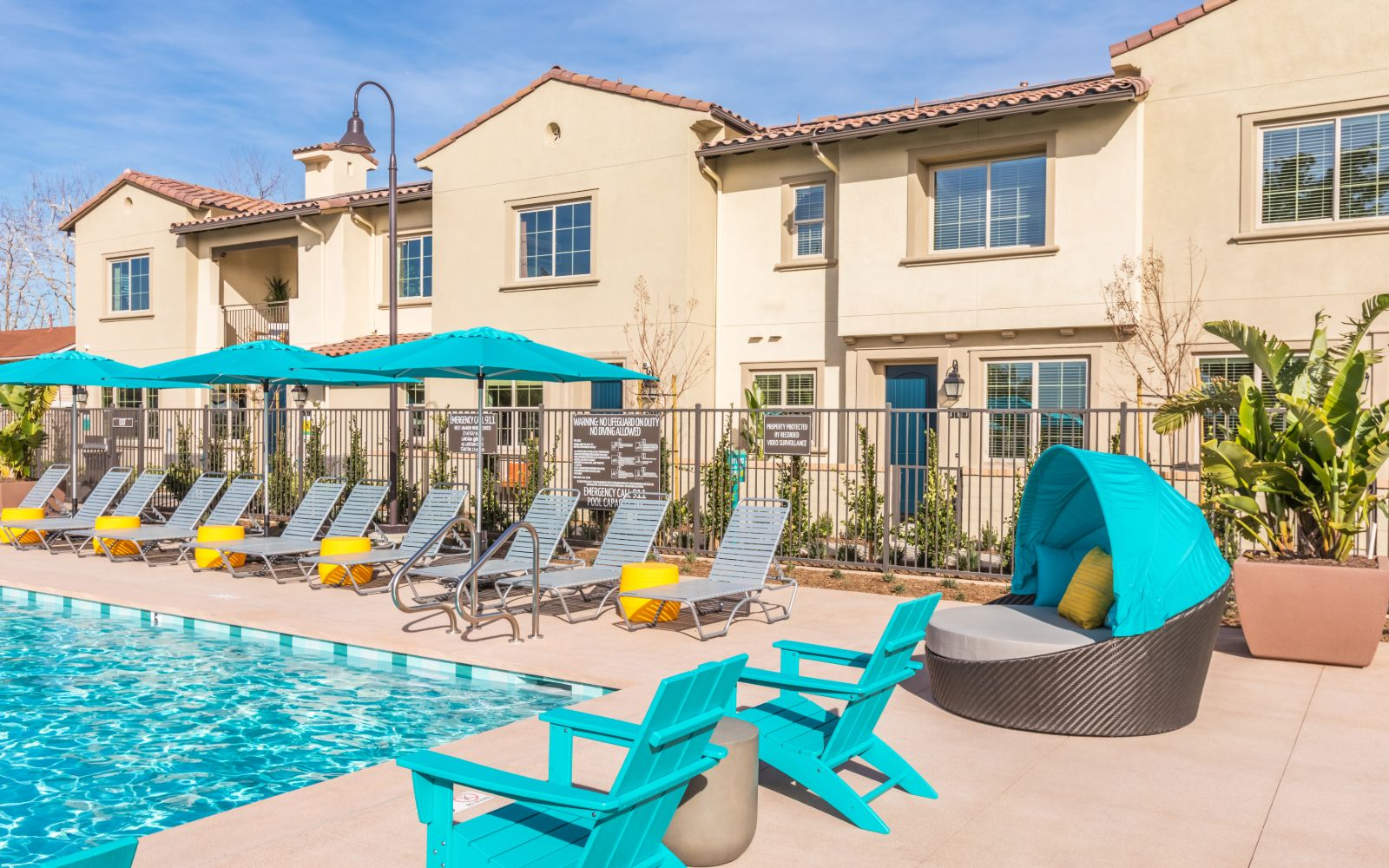 Pool Area Lantana Beach in Stanton CA Brookfield Residential