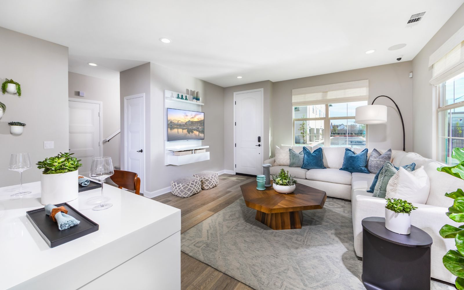 Towns Plan 1 Living Room | Lantana @Beach in Stanton, CA | Brookfield Residential