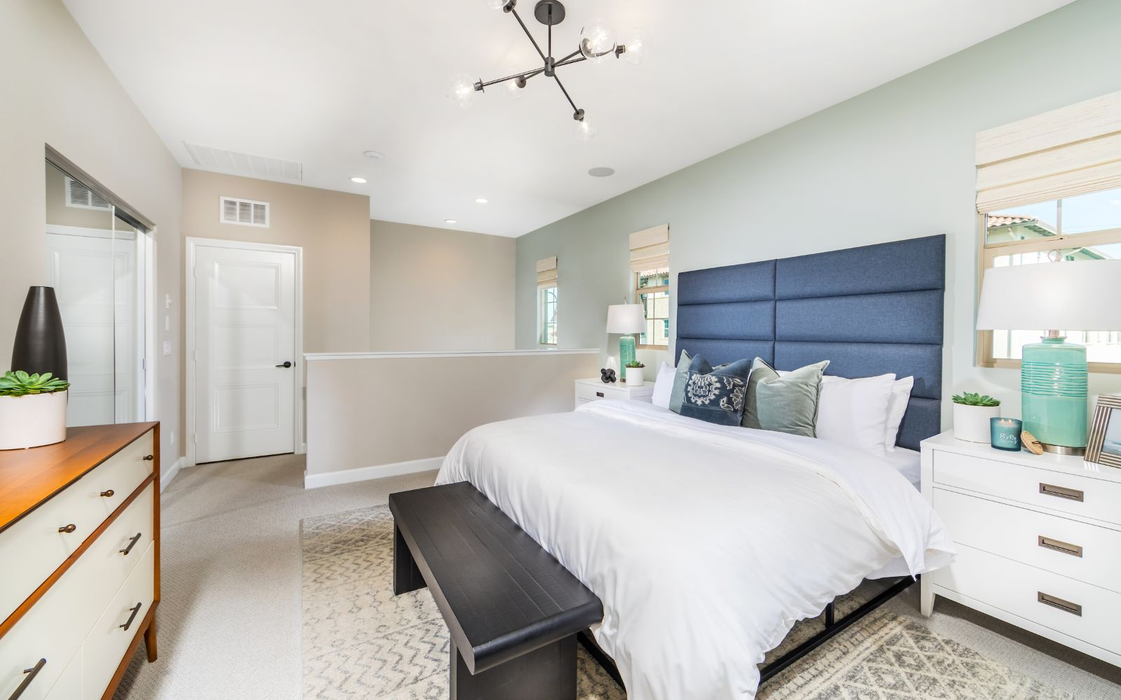 Towns Plan 1 Master Bedroom | Lantana @Beach in Stanton, CA | Brookfield Residential