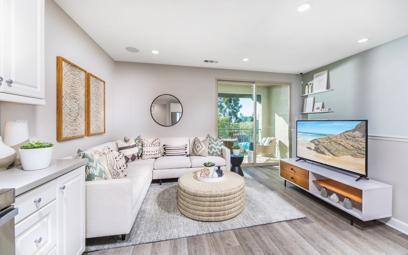 Towns Plan 2 Living Room | Lantana @Beach in Stanton, CA | Brookfield Residential