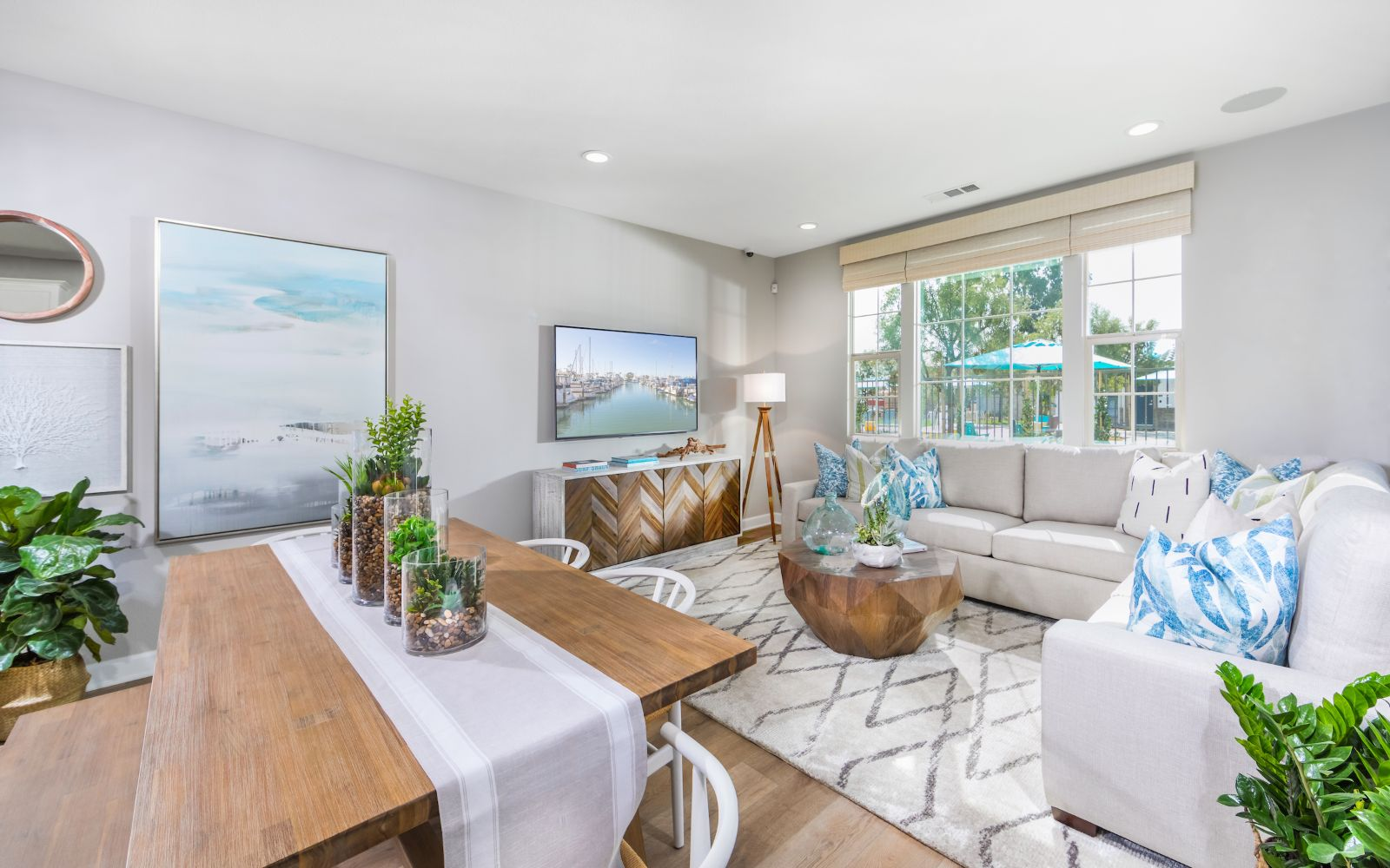 Towns Plan 6 Living Room | Lantana @Beach in Stanton, CA | Brookfield Residential