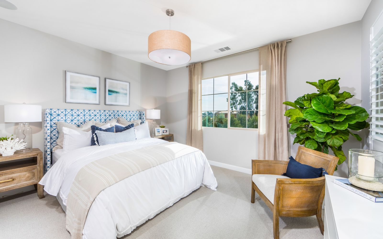 Towns Plan 6 Master Bedroom | Lantana @Beach in Stanton, CA | Brookfield Residential