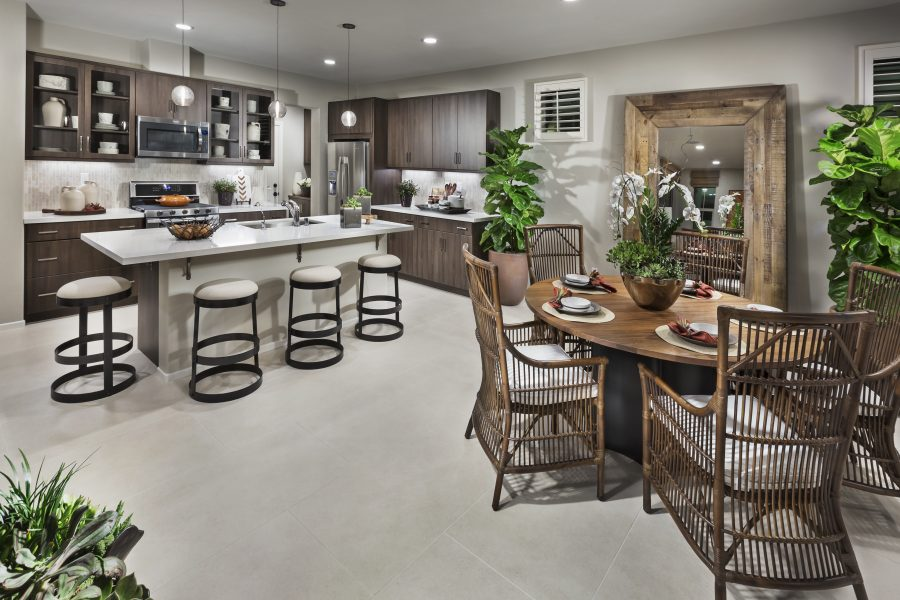 Dining Room and Kitchen | Aborel at New Haven in Ontario Ranch, CA | Brookfield Residential