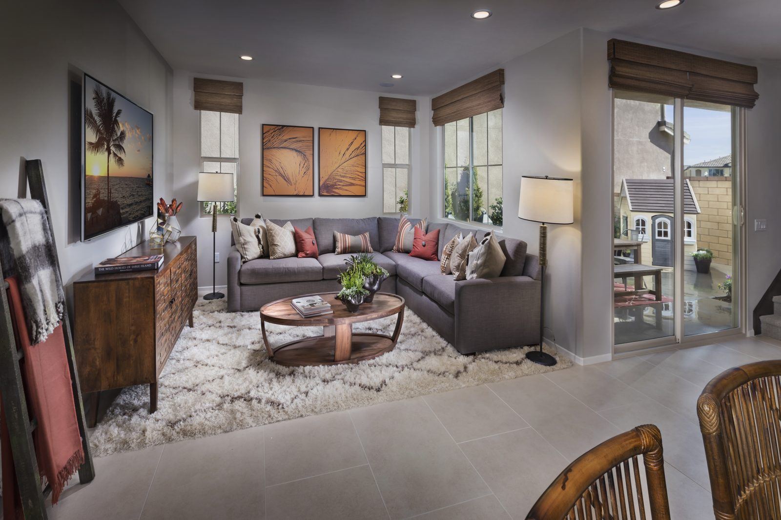 Living Room | Aborel at New Haven in Ontario Ranch, CA | Brookfield Residential