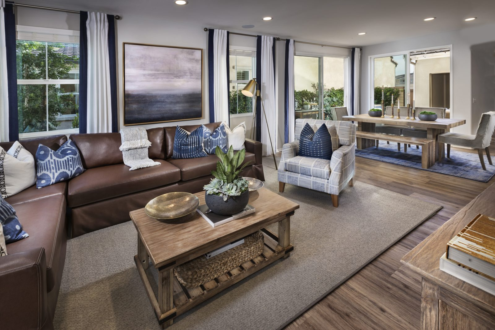 Living and Dining Room | Aborel at New Haven in Ontario Ranch, CA | Brookfield Residential