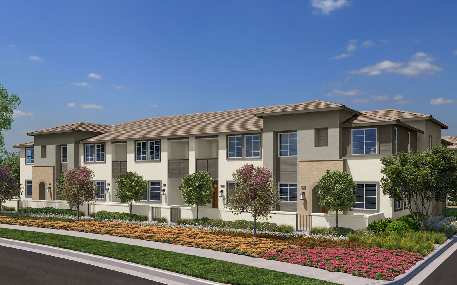 Exterior Rendering 1A Trim 2 | Citrus Canvas Park at New Haven in Ontario Ranch, CA | Brookfield Residential