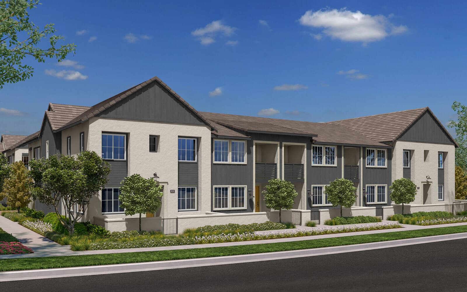 Exterior Rendering 1B Trim 1 | Citrus Canvas Park at New Haven in Ontario Ranch, CA | Brookfield Residential