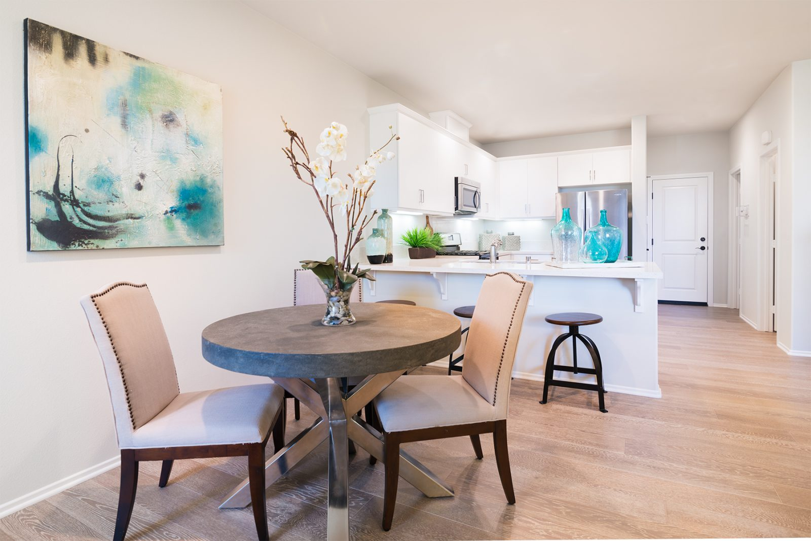 Kitchen and Living Room | Holiday at New Haven in Ontario Ranch, CA | Brookfield Residential