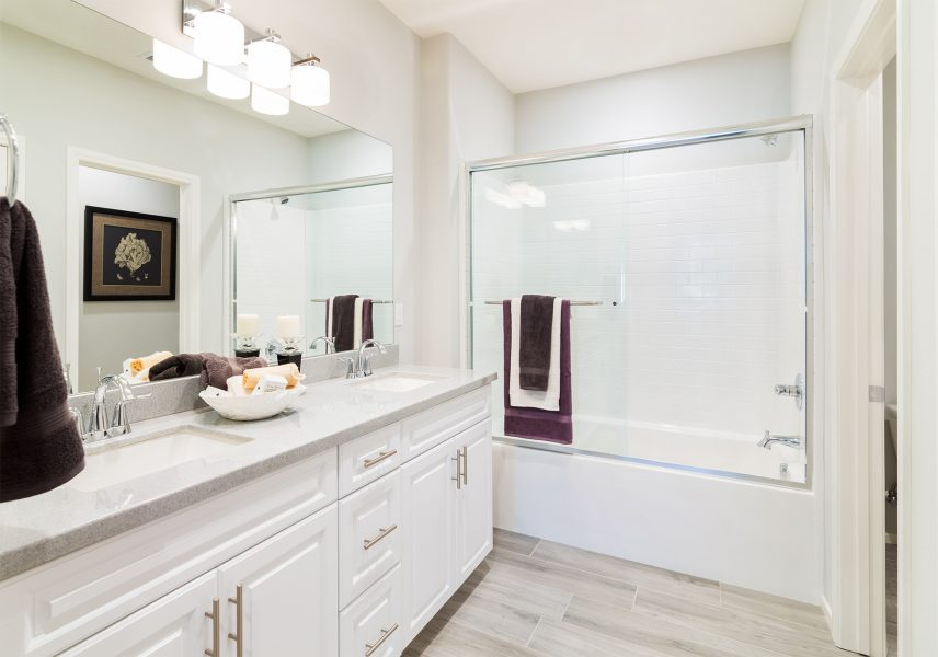 Master Bathroom | Holiday at New Haven in Ontario Ranch, CA | Brookfield Residential
