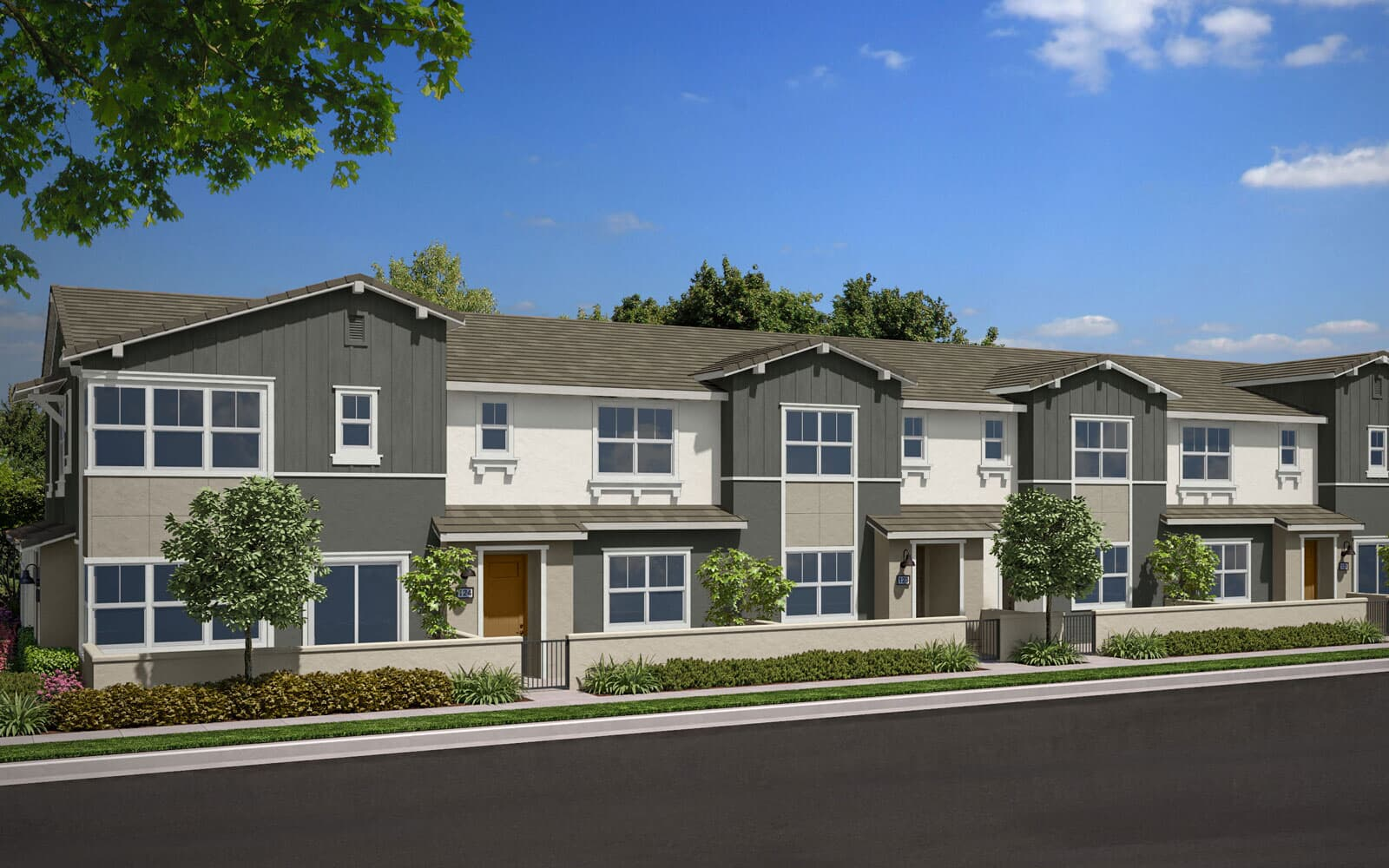 Exterior Rendering A Scheme 1 | Indigo Canvas Park at New Haven in Ontario Ranch, CA | Brookfield Residential