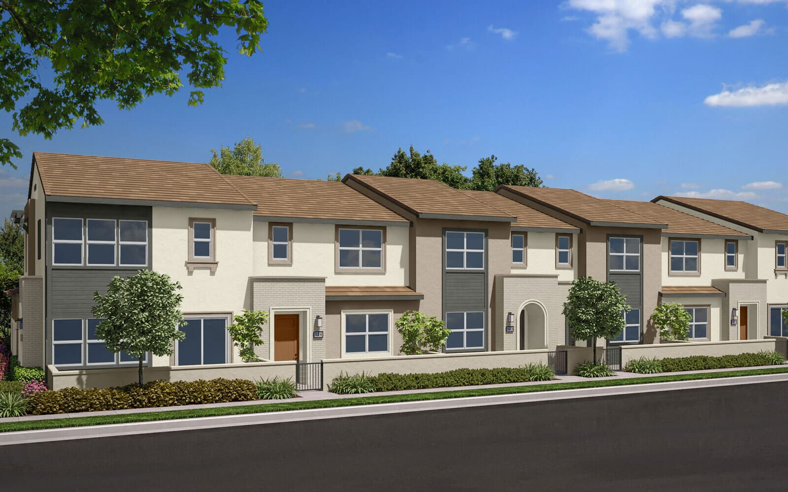 Exterior Rendering B Scheme 3 | Indigo Canvas Park at New Haven in Ontario Ranch, CA | Brookfield Residential