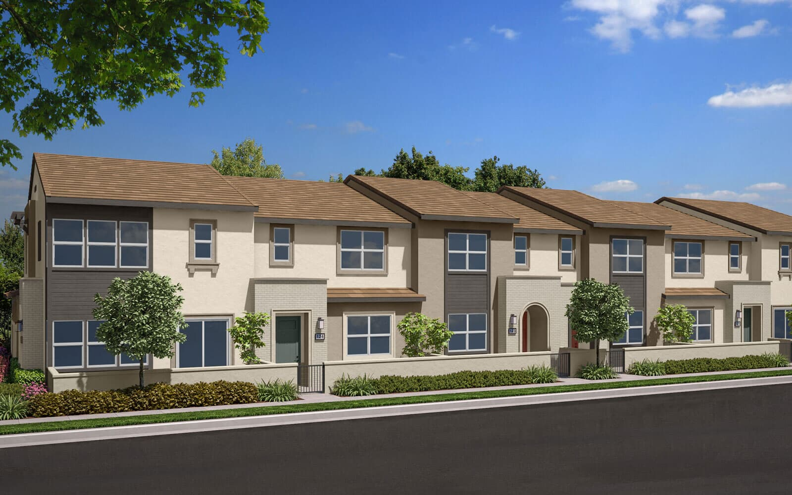Exterior Rendering B Scheme 4 | Indigo Canvas Park at New Haven in Ontario Ranch, CA | Brookfield Residential