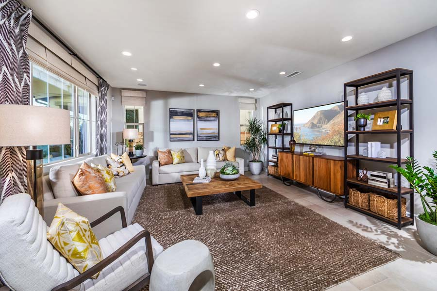 Great Room Residence 1 | Marigold at New Haven in Ontario Ranch, CA | Brookfield Residential
