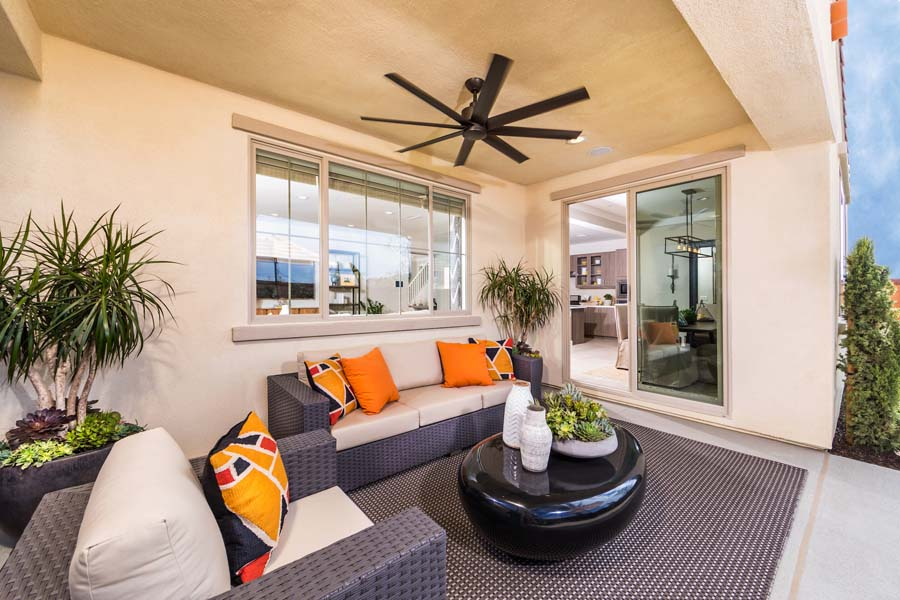 Outdoor Room Residence 1 | Marigold at New Haven in Ontario Ranch, CA | Brookfield Residential