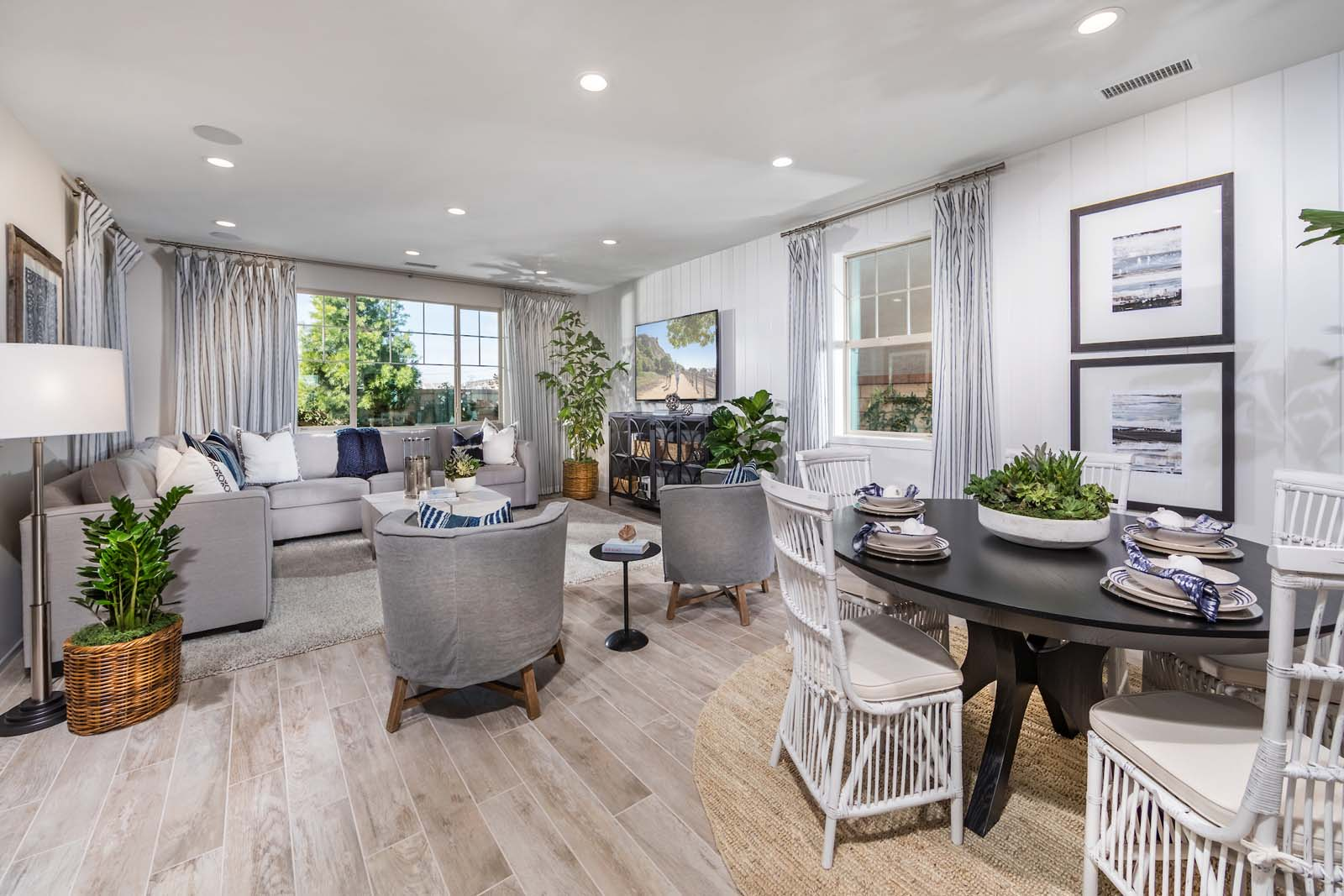 Dining Great Room Residence 2 | Marigold at New Haven in Ontario Ranch, CA | Brookfield Residential
