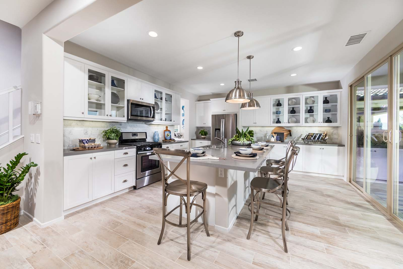 Kitchen Residence 2 | Marigold at New Haven in Ontario Ranch, CA | Brookfield Residential