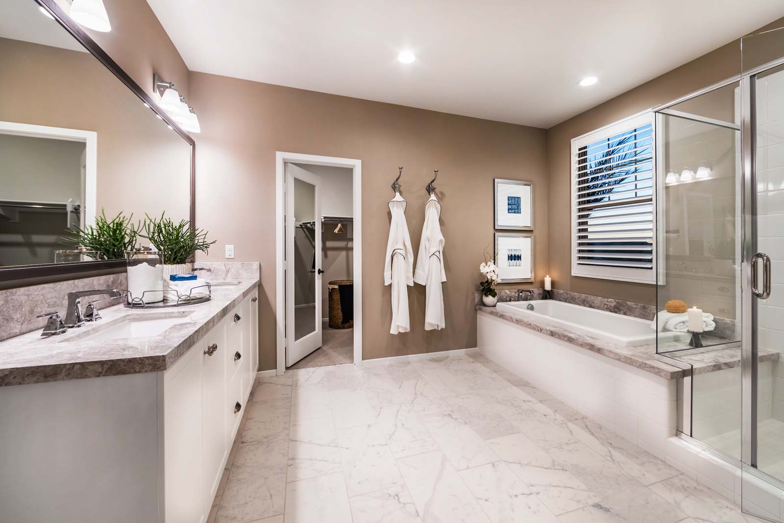 Master Bath Residence 2 | Marigold at New Haven in Ontario Ranch, CA | Brookfield Residential