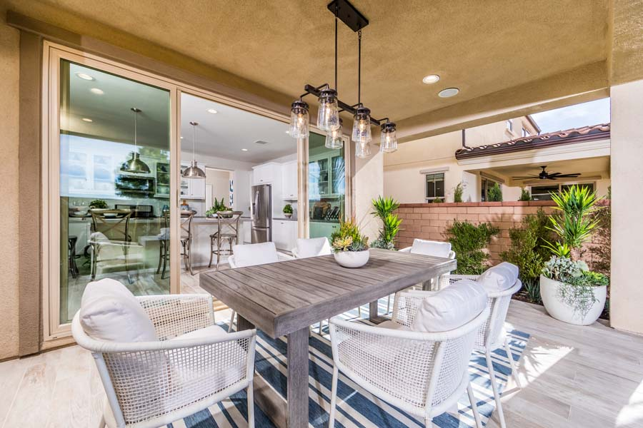 Outdoor Room Residence 2 | Marigold at New Haven in Ontario Ranch, CA | Brookfield Residential