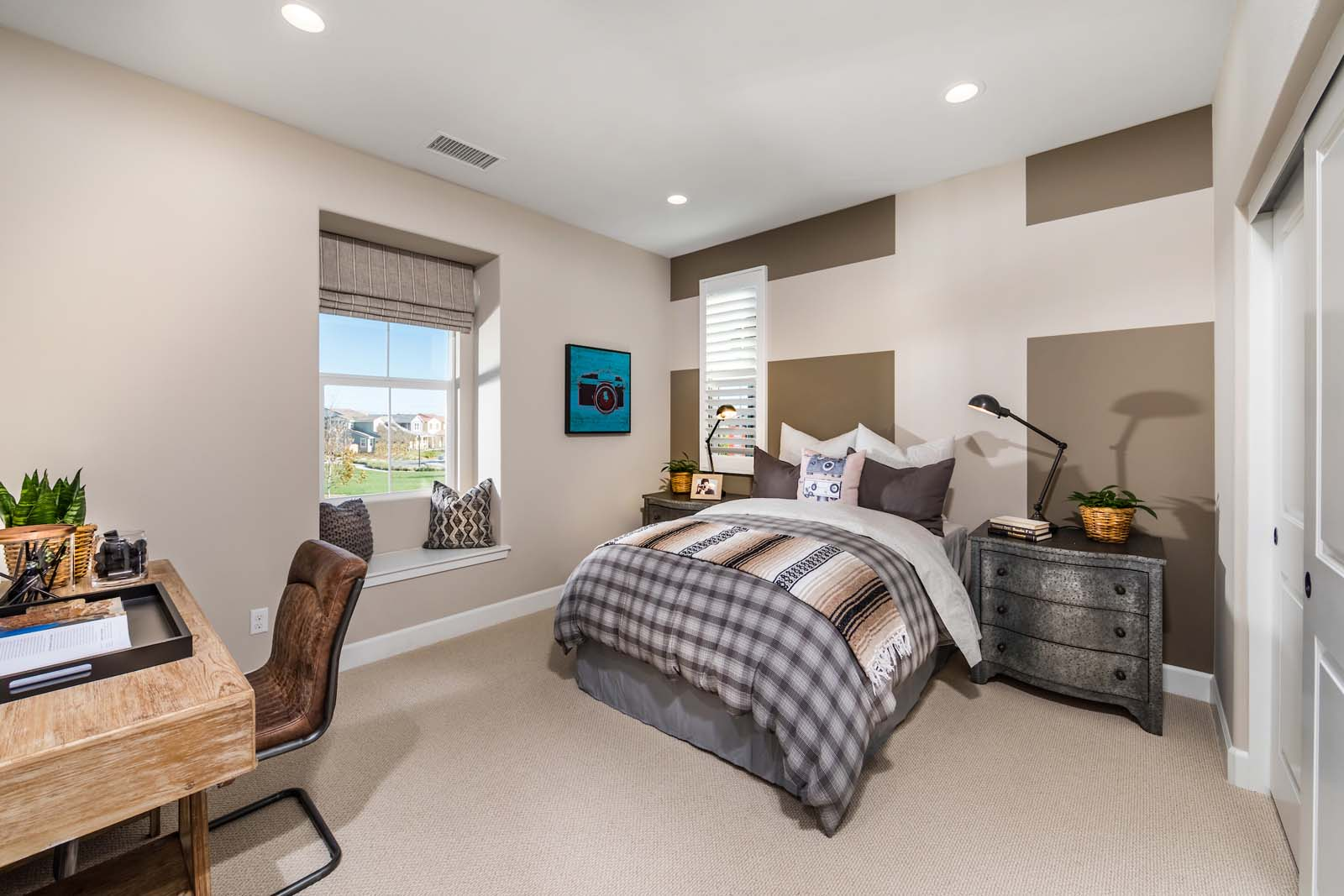 Bedroom 3 Residence 3 | Marigold at New Haven in Ontario Ranch, CA | Brookfield Residential