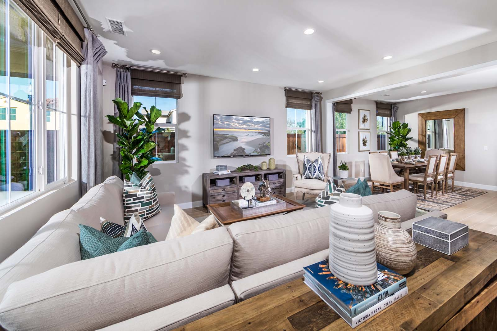 Great Room Residence 3 | Marigold at New Haven in Ontario Ranch, CA | Brookfield Residential