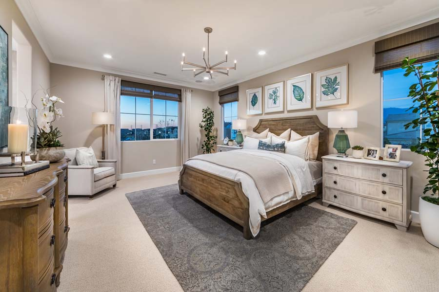Master Bedroom Residence 3 Marigold at New Haven in Ontario Ranch CA Brookfield Residential