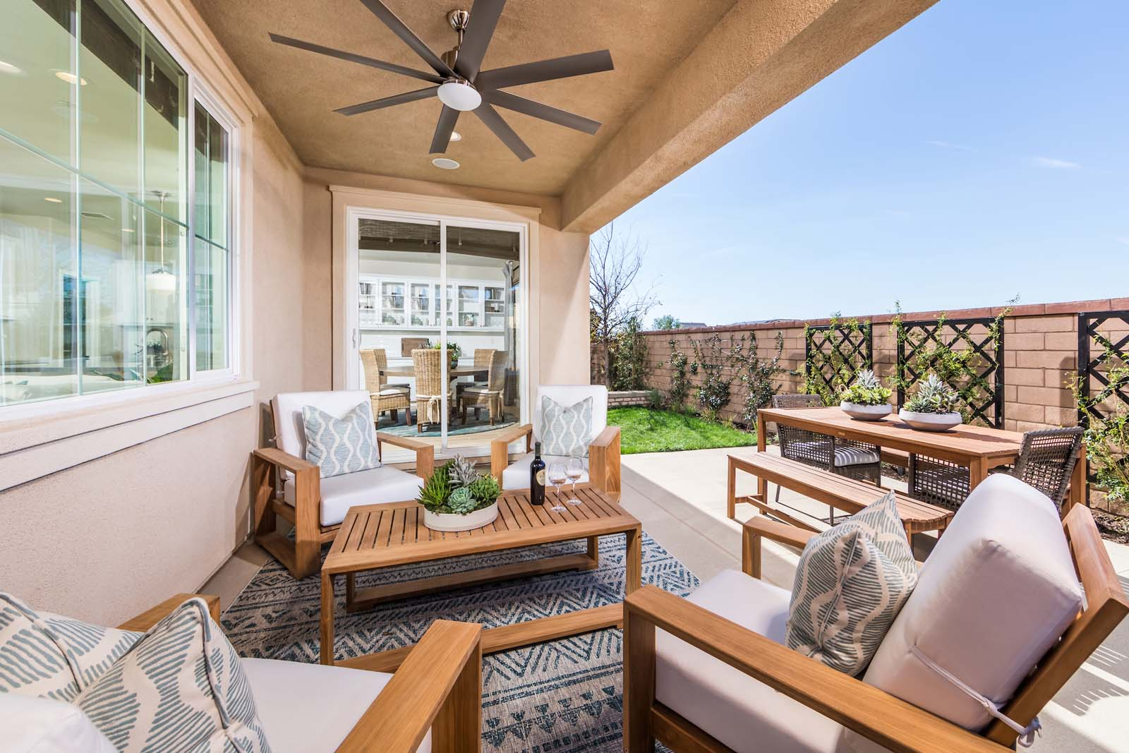 Outdoor Room Residence 3 | Marigold at New Haven in Ontario Ranch, CA | Brookfield Residential