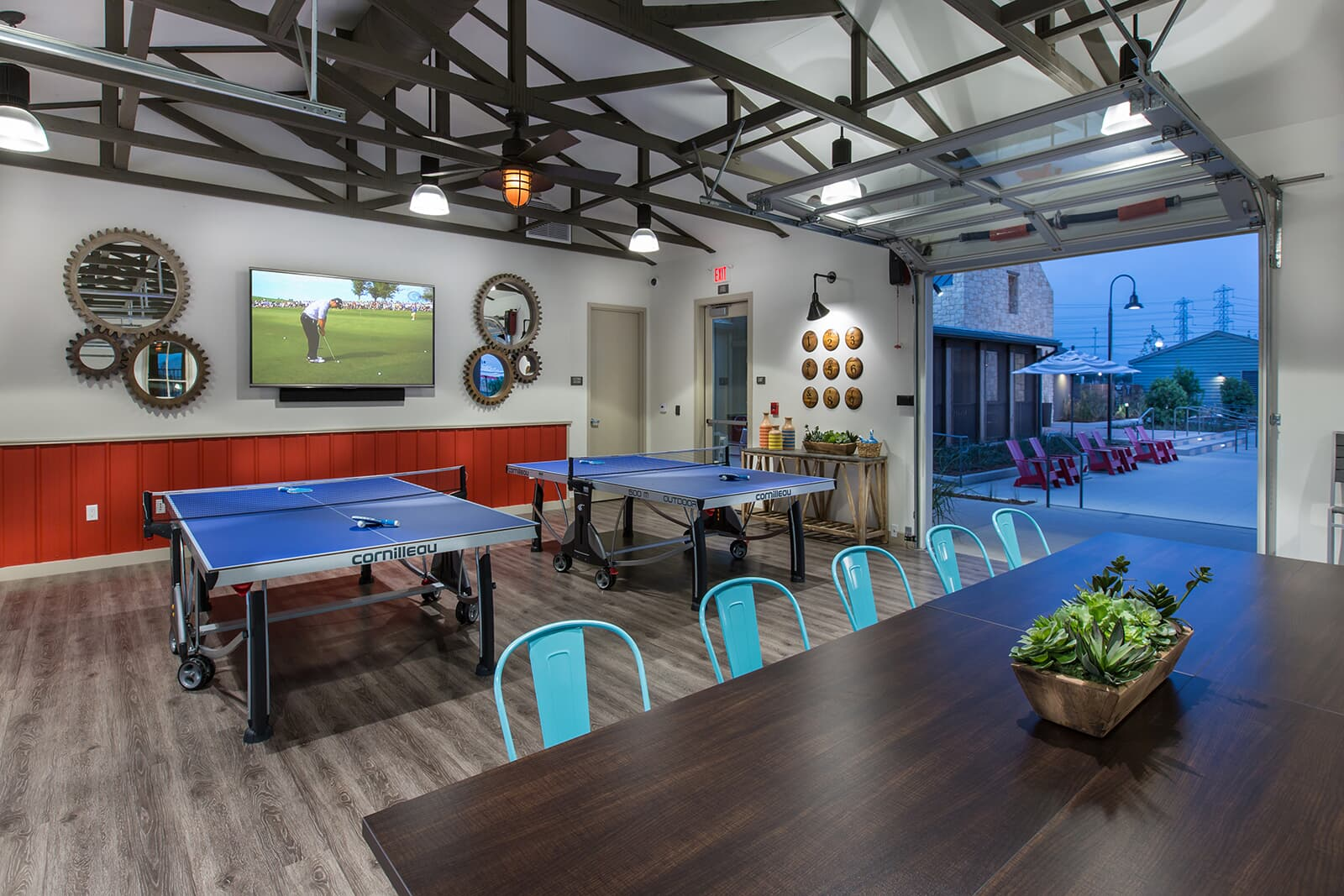 Ping Pong in the clubhouse at New Haven in Ontario Ranch, CA | Brookfield Residential