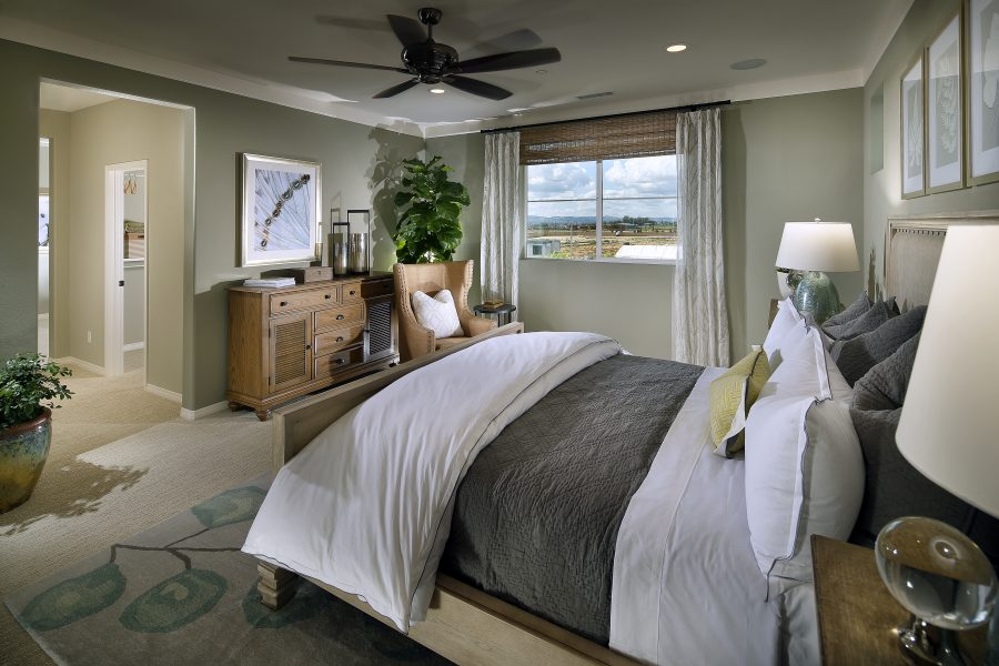 Master bedroom in a residence at New Haven in Ontario Ranch, CA | Brookfield Residential