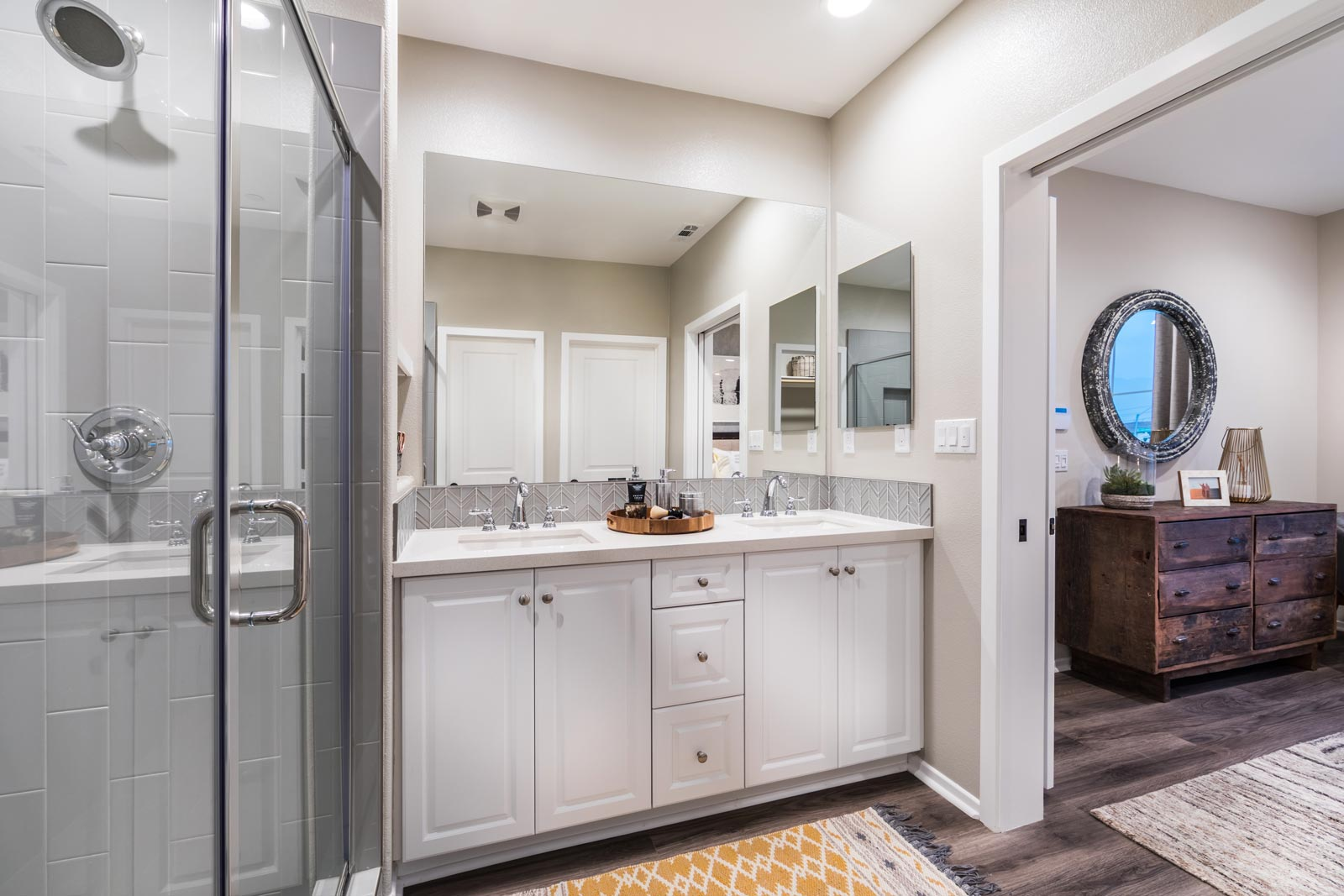 Plan 1 Master Bath | Solstice at New Haven in Ontario Ranch, CA | Brookfield Residential