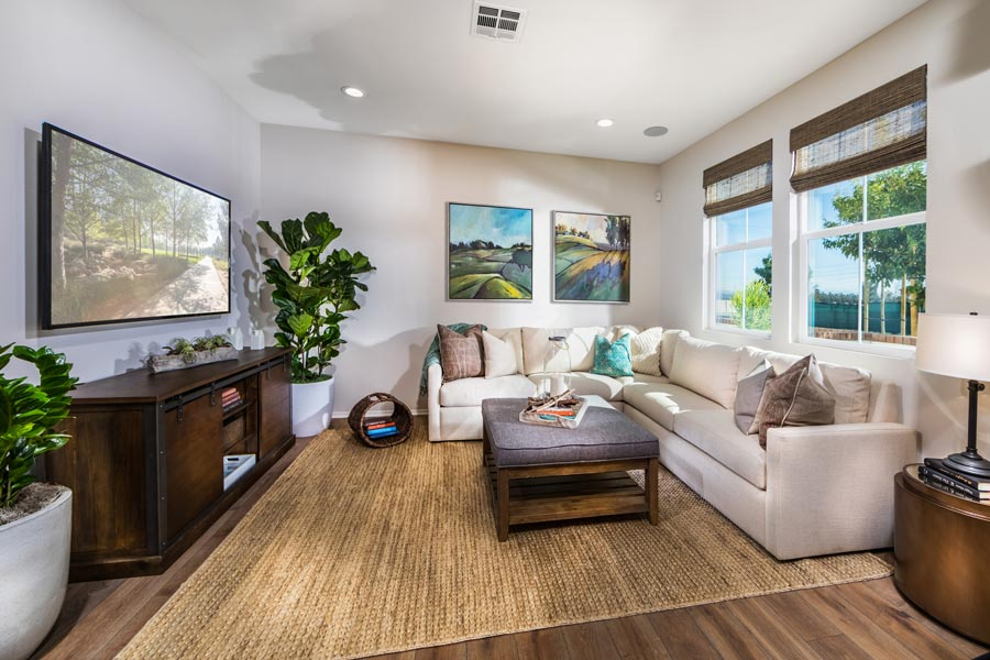 Plan 2 Great Room | Solstice at New Haven in Ontario Ranch, CA | Brookfield Residential