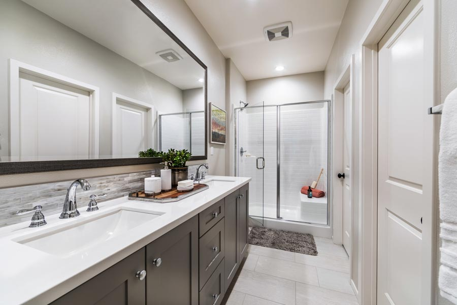 Plan 2 Master Bath | Solstice at New Haven in Ontario Ranch, CA | Brookfield Residential