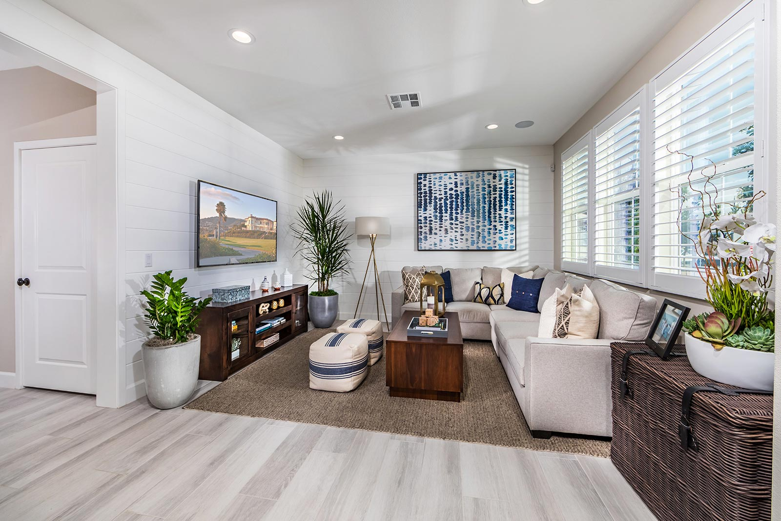 Plan 3 Great Room | Solstice at New Haven in Ontario Ranch, CA | Brookfield Residential