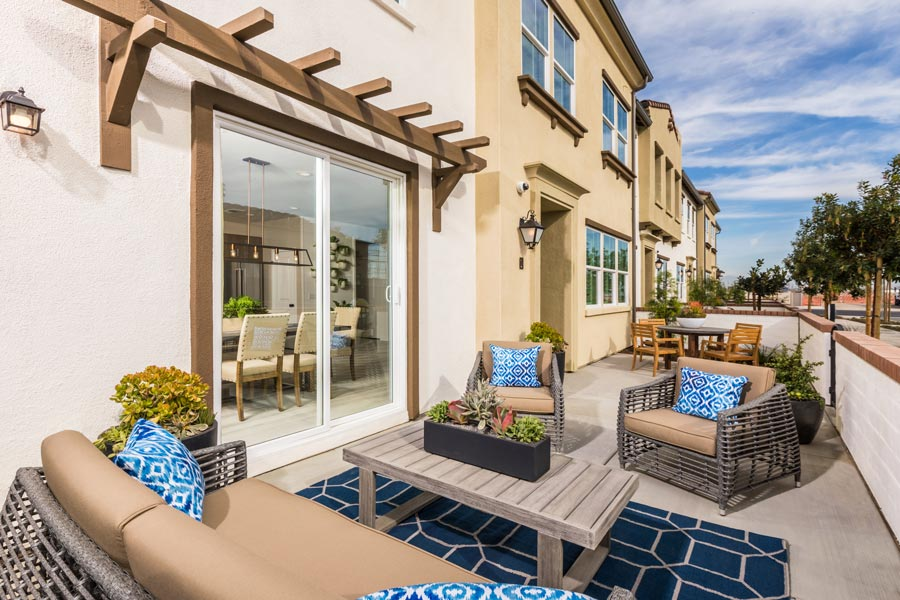 Plan 3 Patio | Solstice at New Haven in Ontario Ranch, CA | Brookfield Residential
