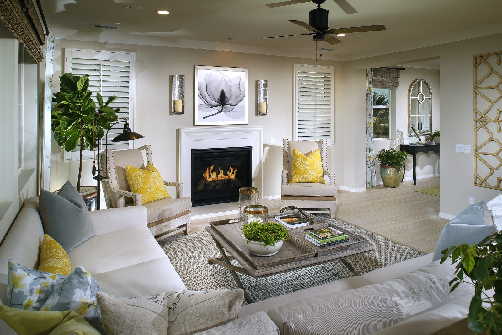 Living Room | Summerset at New Haven in Ontario Ranch, CA | Brookfield Residential