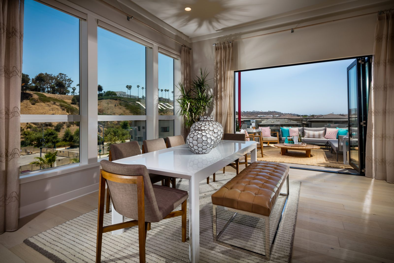 Dining Room to Deck | Cleo at Playa Vista in Los Angeles, CA | Brookfield Residential