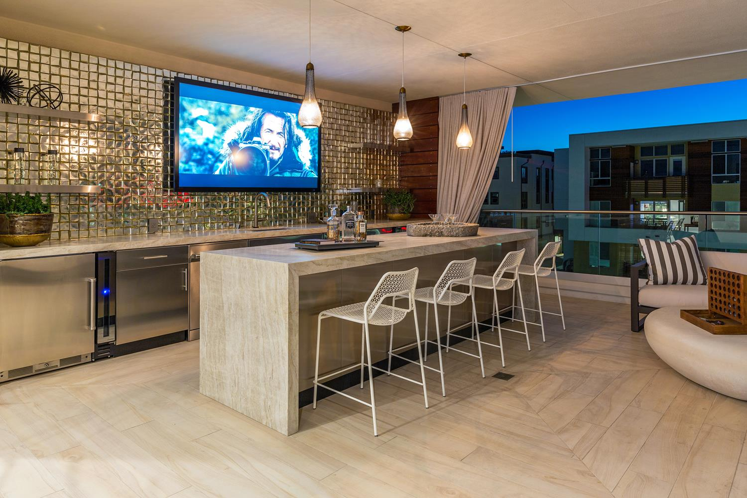 Covered deck | 5900 Village Drive | Jewel at Playa Vista in Los Angeles, CA | Brookfield Residential